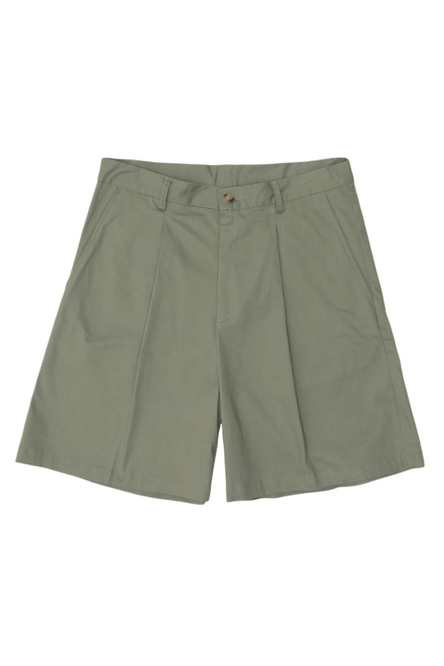 ARCADE x JUWAIDIJUMANTO CHINO SHORTS IN MOSS