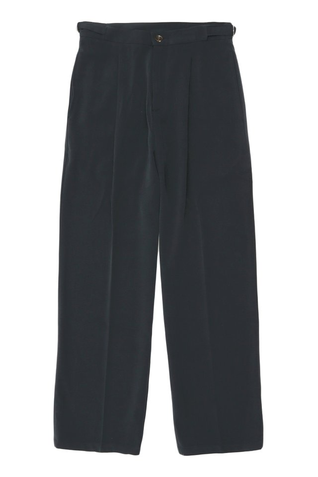 ARCADE x JUWAIDIJUMANTO WIDE-LEG TROUSERS IN NAVY