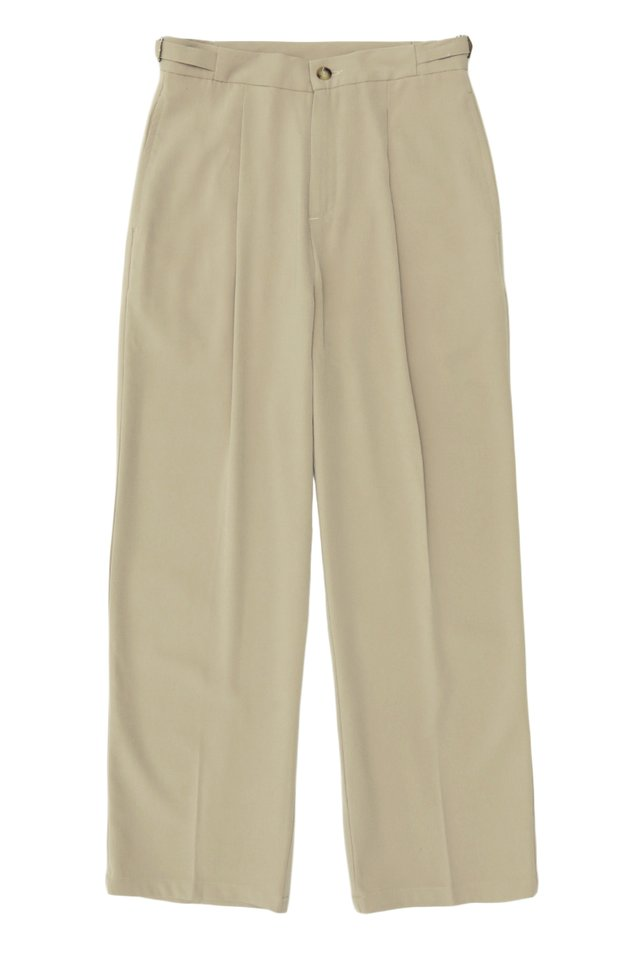 ARCADE x JUWAIDIJUMANTO WIDE-LEG TROUSERS IN SAND