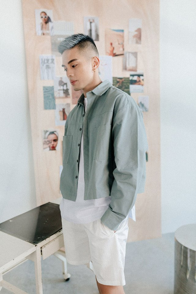 ARCADE x VINCEFURUKAWA CROPPED JACKET IN DUSK BLUE