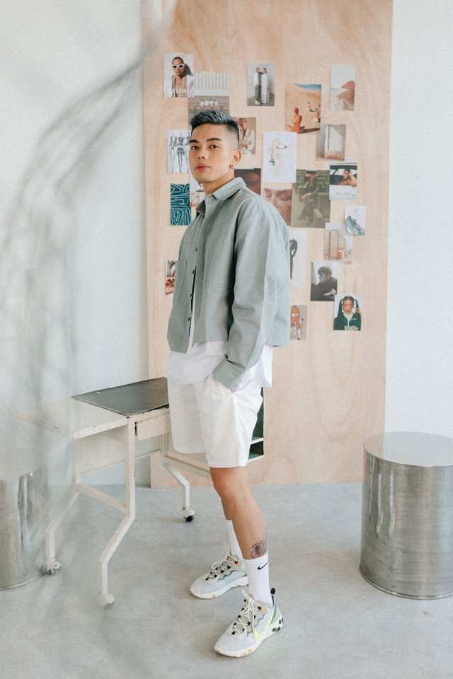 ARCADE x VINCEFURUKAWA NYLON SHORTS IN WHITE
