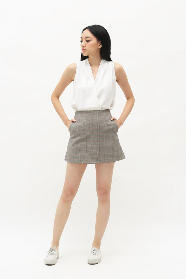 ACE GIRL PLAID SKORTS IN GREY