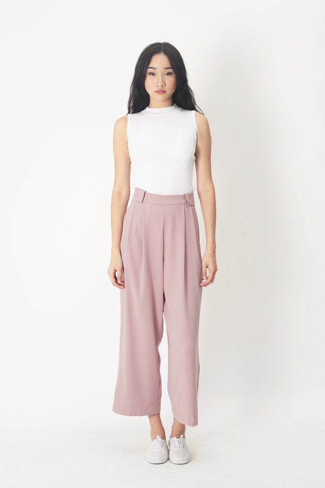 ANGELES PALAZZO PANTS IN FRENCH PINK