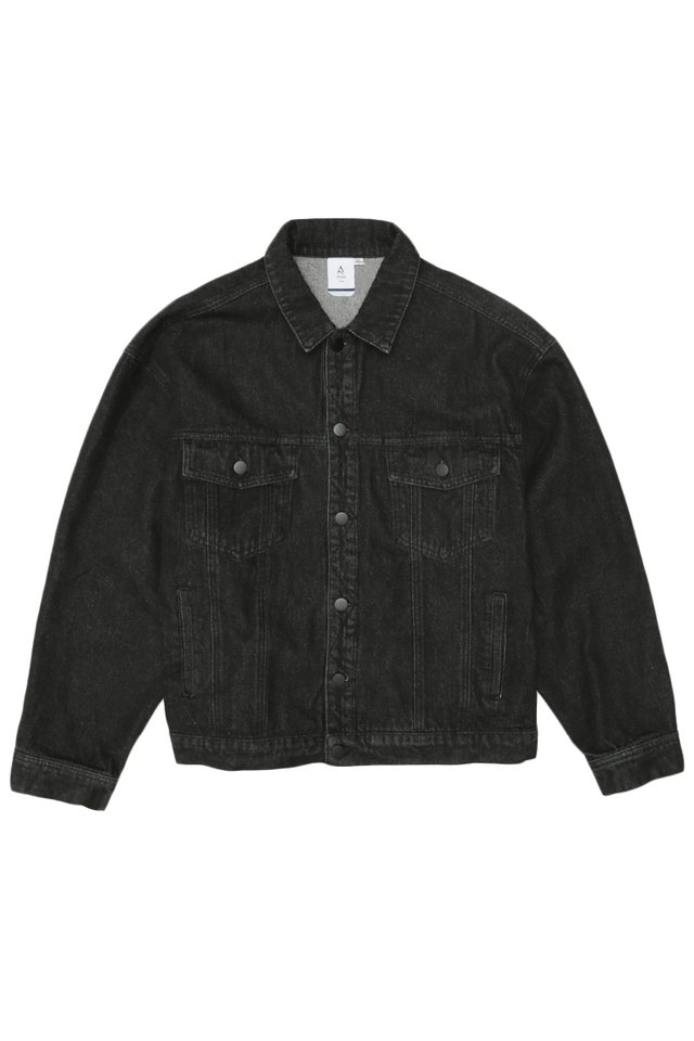 BENJI OVERSIZED DENIM JACKET IN BLACK