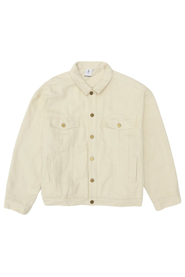 BENJI OVERSIZED TWILL JACKET IN ECRU