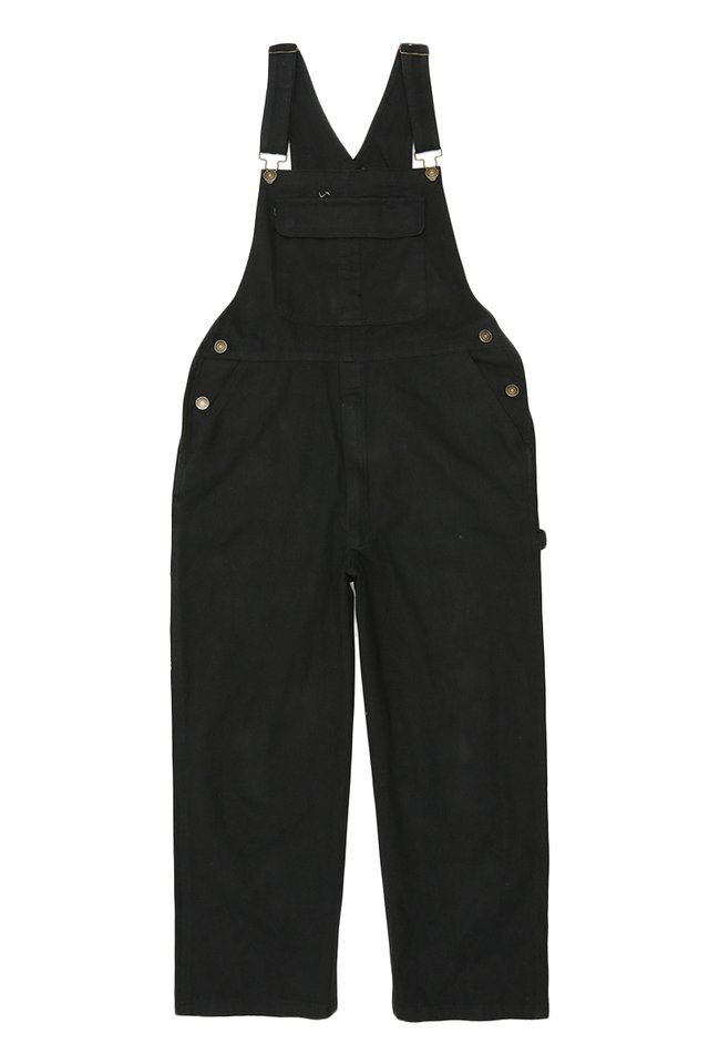 BROCK WIDE-LEG OVERALLS IN BLACK