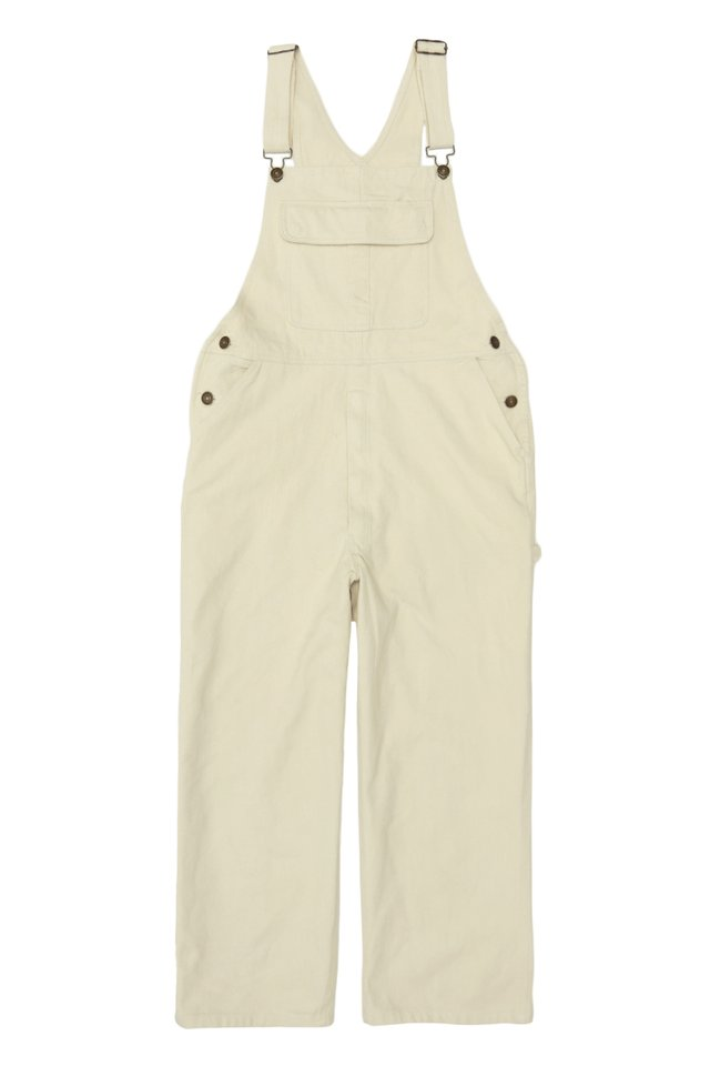 BROCK WIDE-LEG OVERALLS IN ECRU
