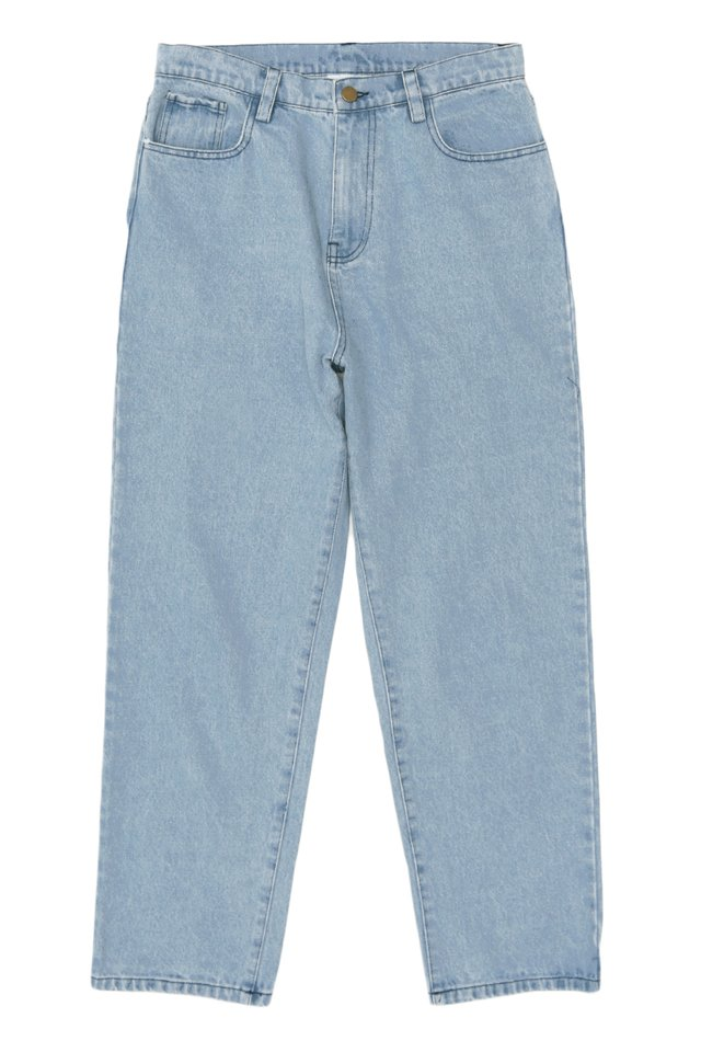 FLINT RELAXED-FIT DENIM JEANS IN MID WASH