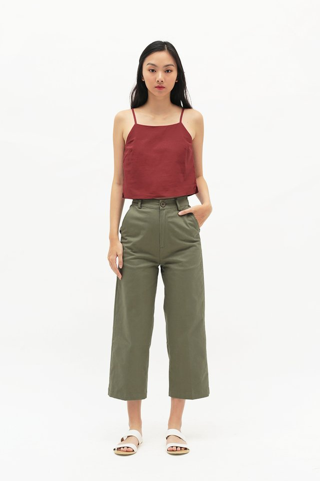 MIKA STRAIGHT CUT CHINOS IN VINEYARD GREEN