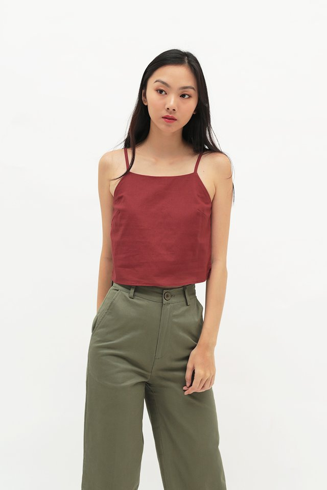 NAIA LINEN TOP IN AUTUMN