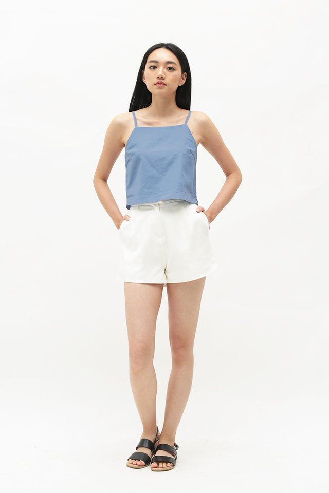 NAIA LINEN TOP IN FRENCH BLUE