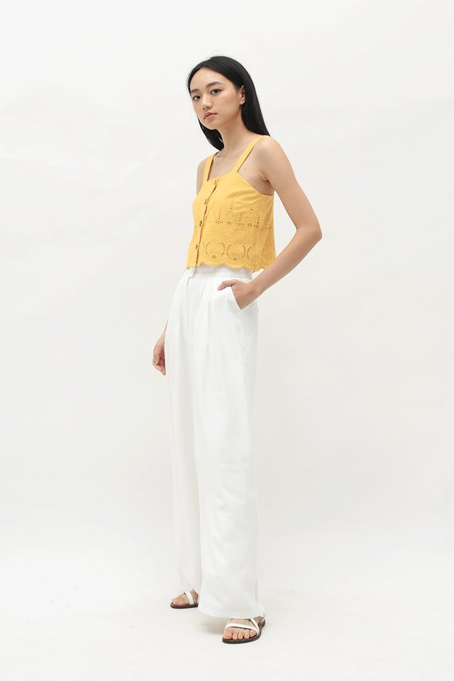 ANETTA PALAZZO PANTS IN WHITE