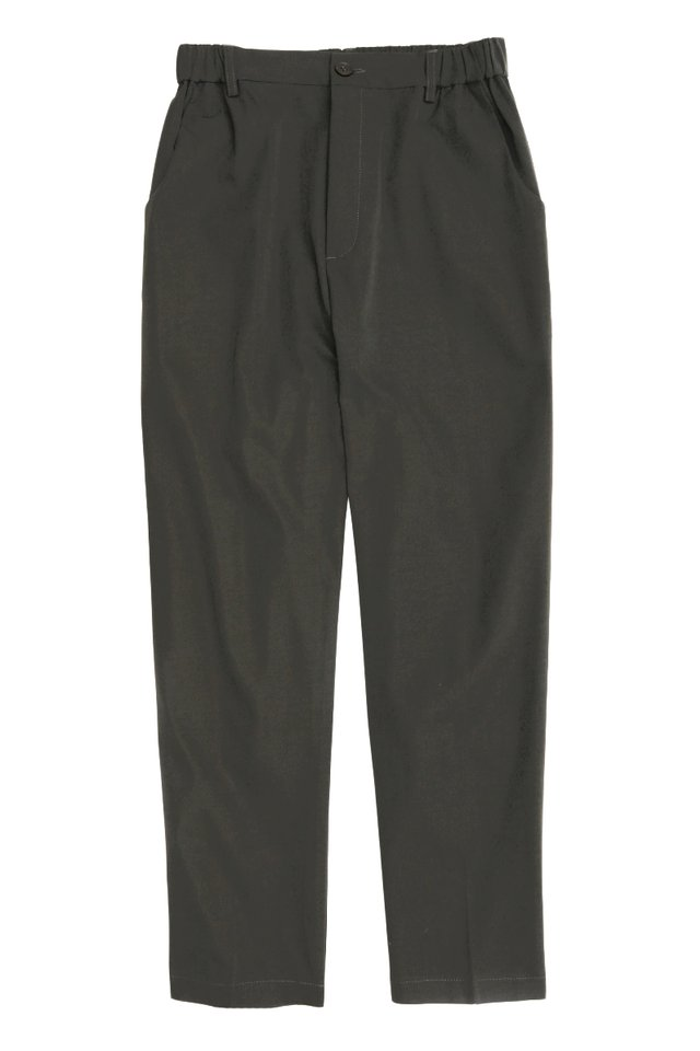CHACE ELASTIC WAIST TROUSERS IN CHARCOAL