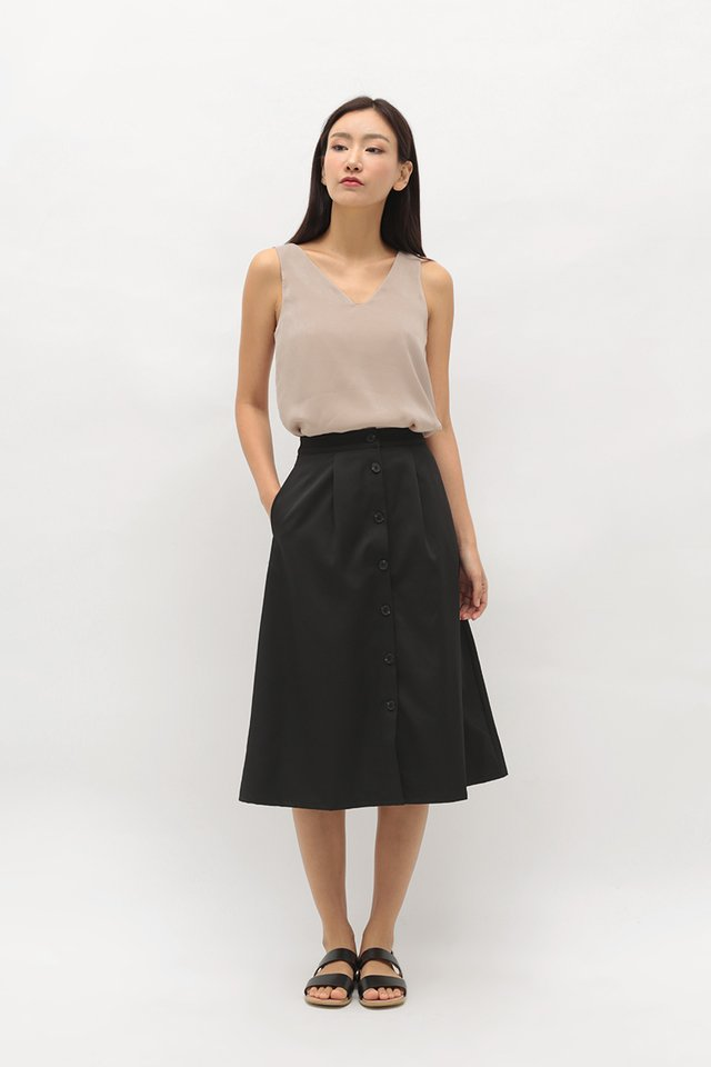 GABBY MIDI SKIRT IN BLACK