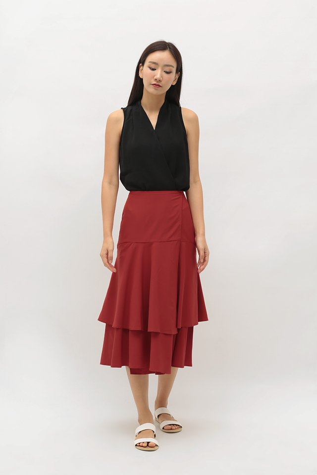 HARRIET WRAP SKIRT IN AUTUMN