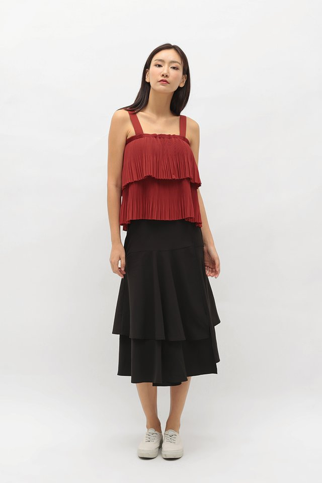 IVY PLEATED TOP IN AUTUMN