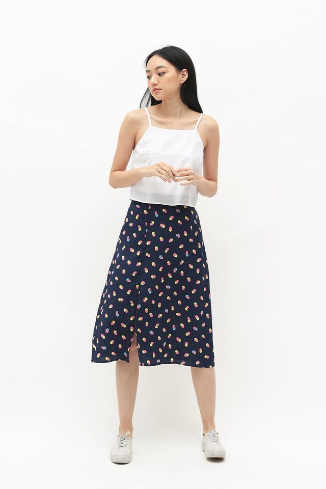 MONICA ABSTRACT A-LINE SKIRT IN NAVY