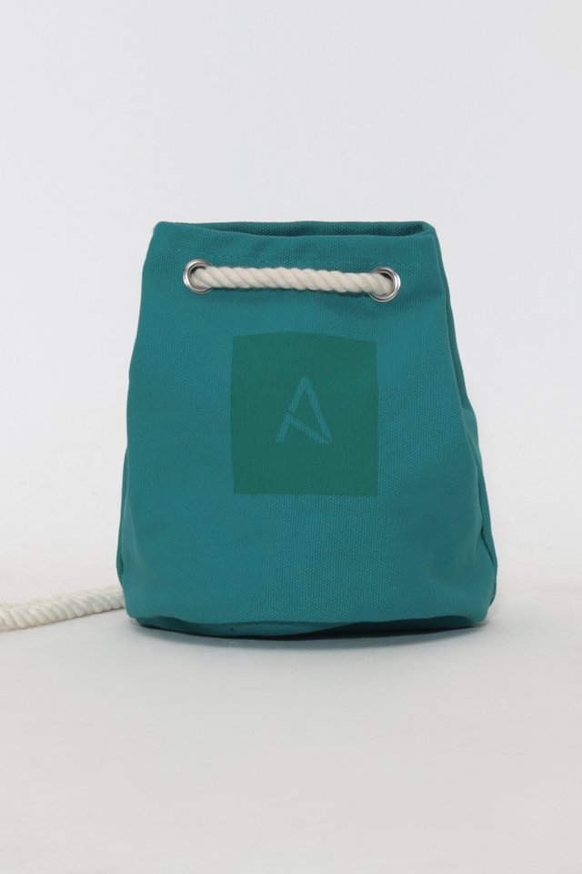 ARCADE CABAS ROPE BAG IN TEAL