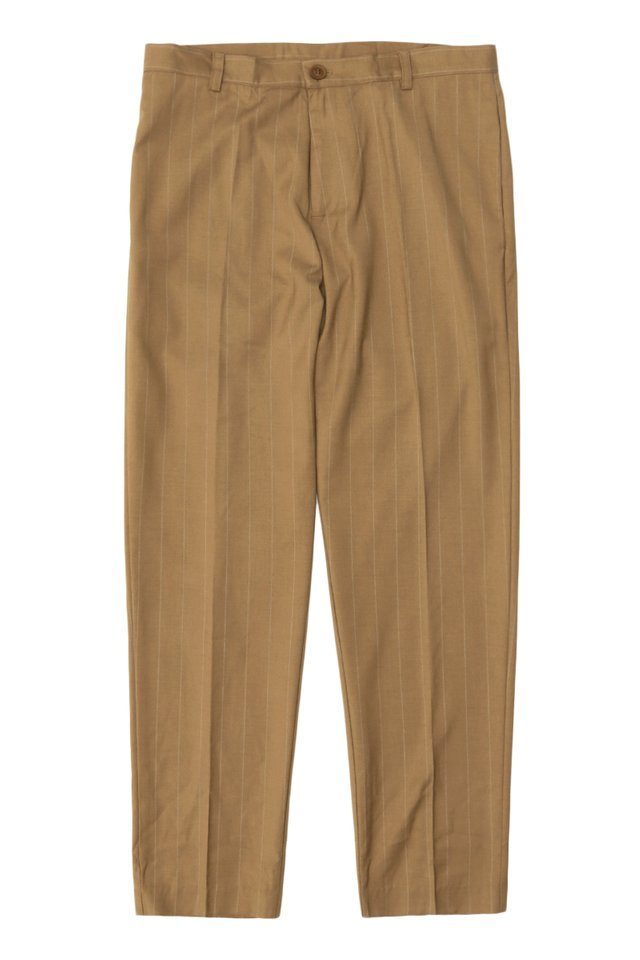 DEAN SLIM-FIT PINSTRIPE TROUSERS IN CAMEL