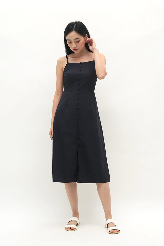 MAUREEN MIDI DRESS IN DARK NAVY