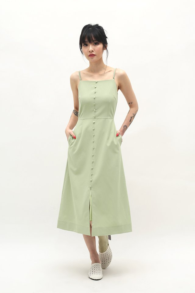 MAUREEN MIDI DRESS IN MELON