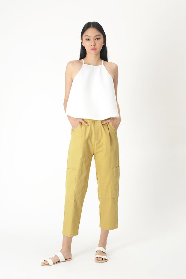 OLIVER POCKET PANTS IN MELLOW YELLOW