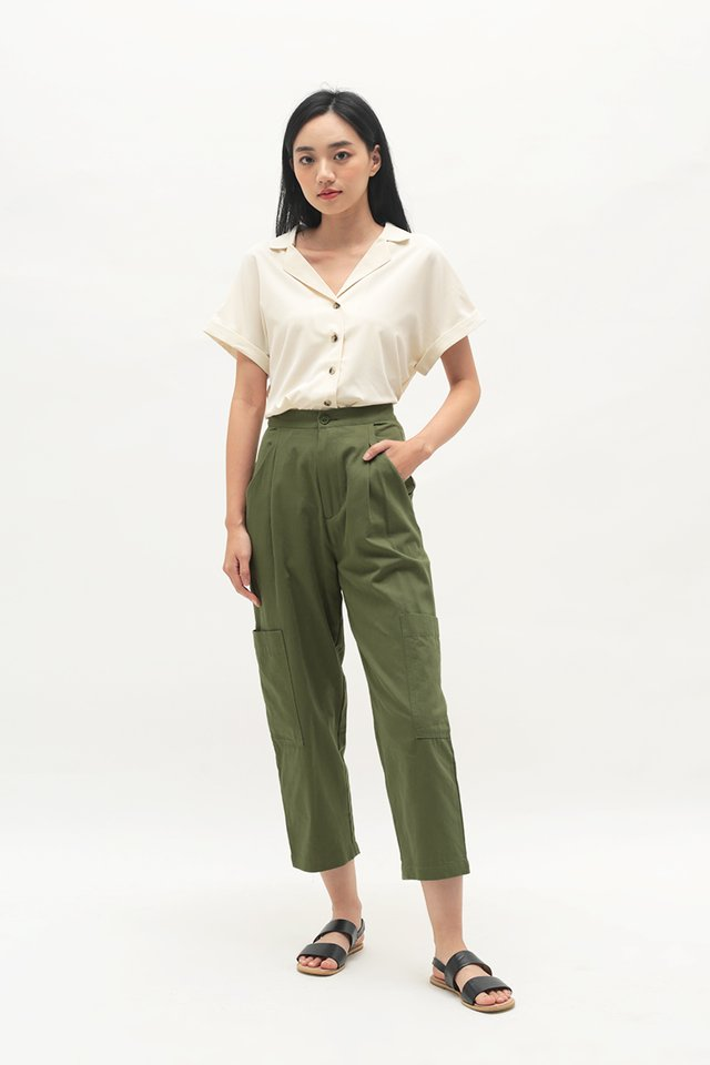 OLIVER POCKET PANTS IN OLIVE