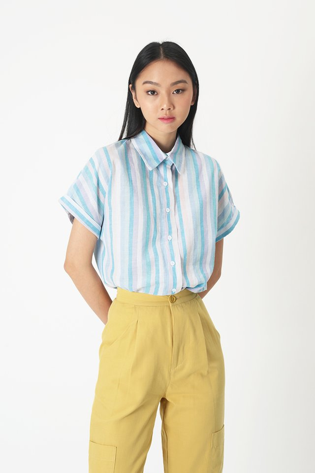 PARADISO BUTTON BLOUSE IN BLUE
