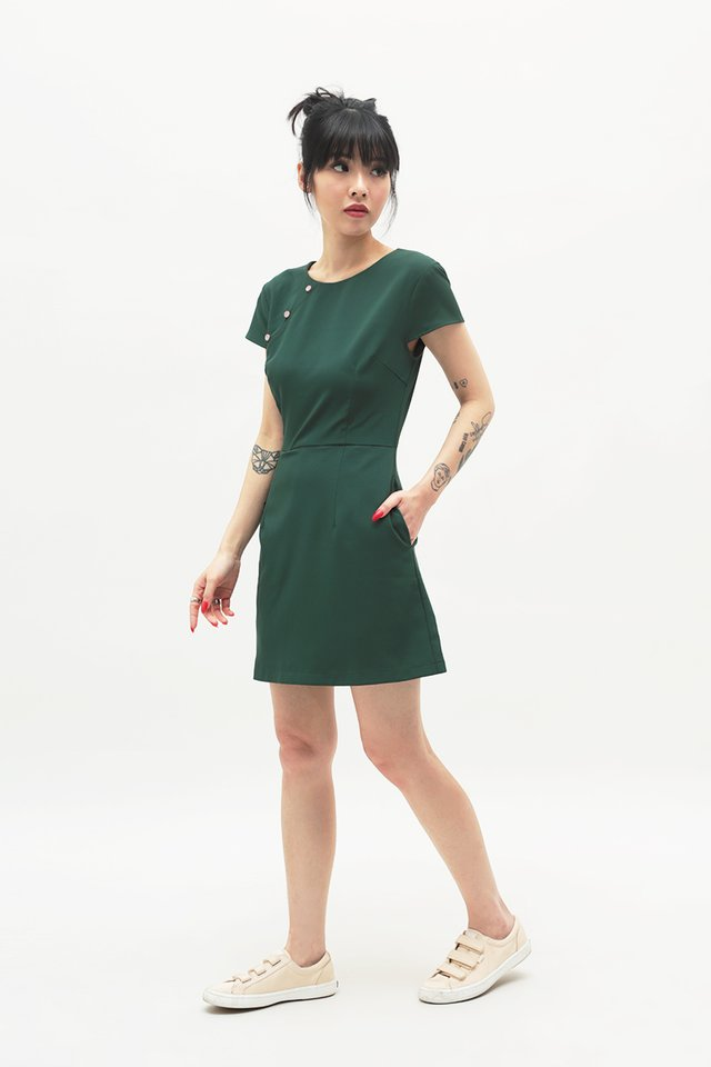 CONSTANCE CHEONGSAM ROMPER IN FOREST