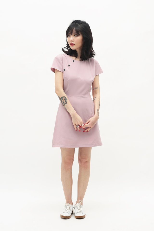 CONSTANCE CHEONGSAM ROMPER IN FRENCH PINK