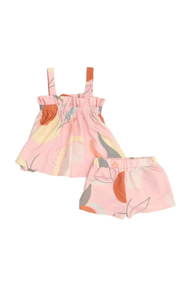 ELORA ABSTRACT TWO PIECE SET IN PINK