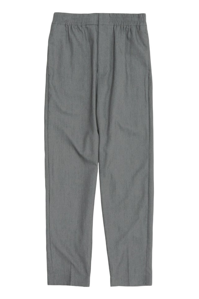 GRAYSON SLIM-FIT ELASTIC WAIST TROUSERS IN GREY