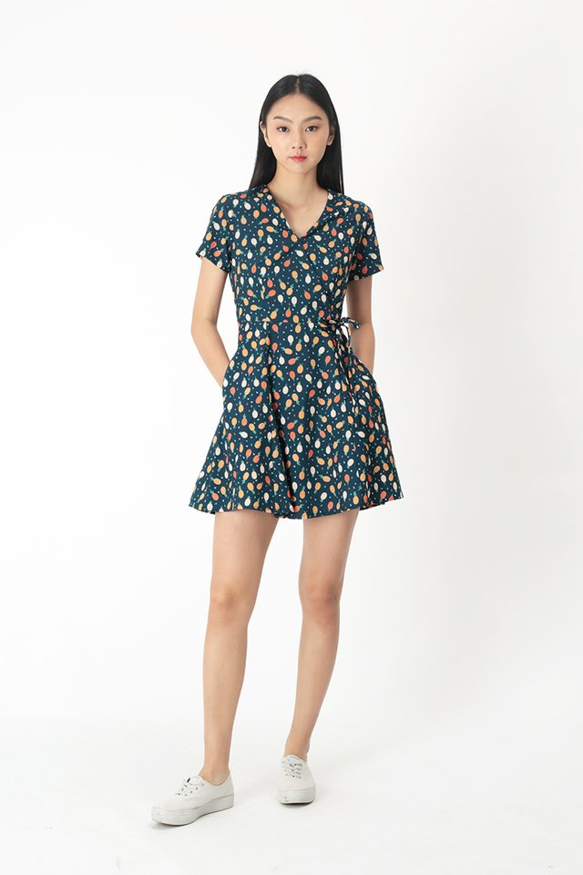KIT PINEAPPLE SWING DRESS IN NAVY