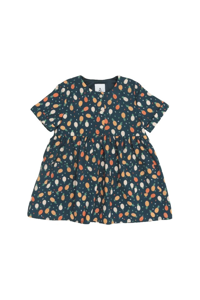 PINEAPPLE OF MY EYE DRESS IN NAVY