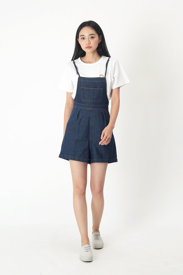 BETSY DENIM OVERALLS IN DARK WASH