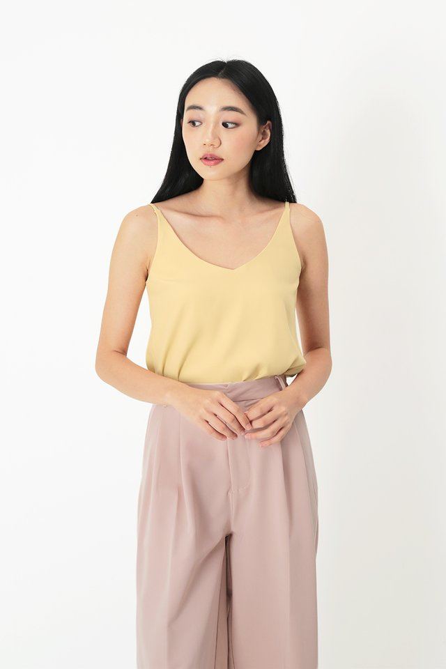 KARI SPAG TOP IN MELLOW YELLOW