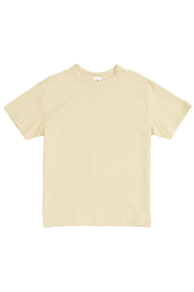 RILEY WIDE-FIT T-SHIRT IN CREAM