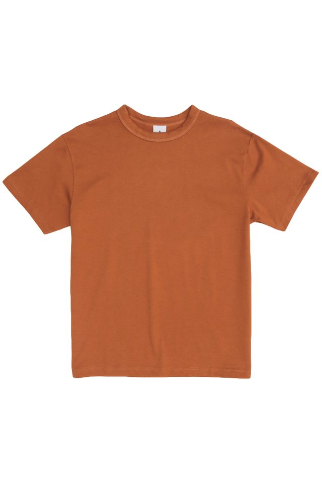 RILEY WIDE-FIT T-SHIRT IN RUST