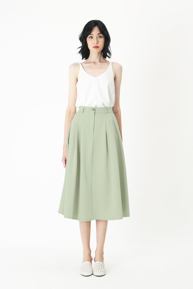 ADINA PLEATED SKIRT IN MELON