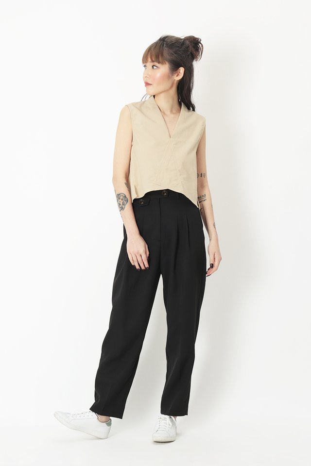 BAYLOR PEG LEG PANTS IN BLACK