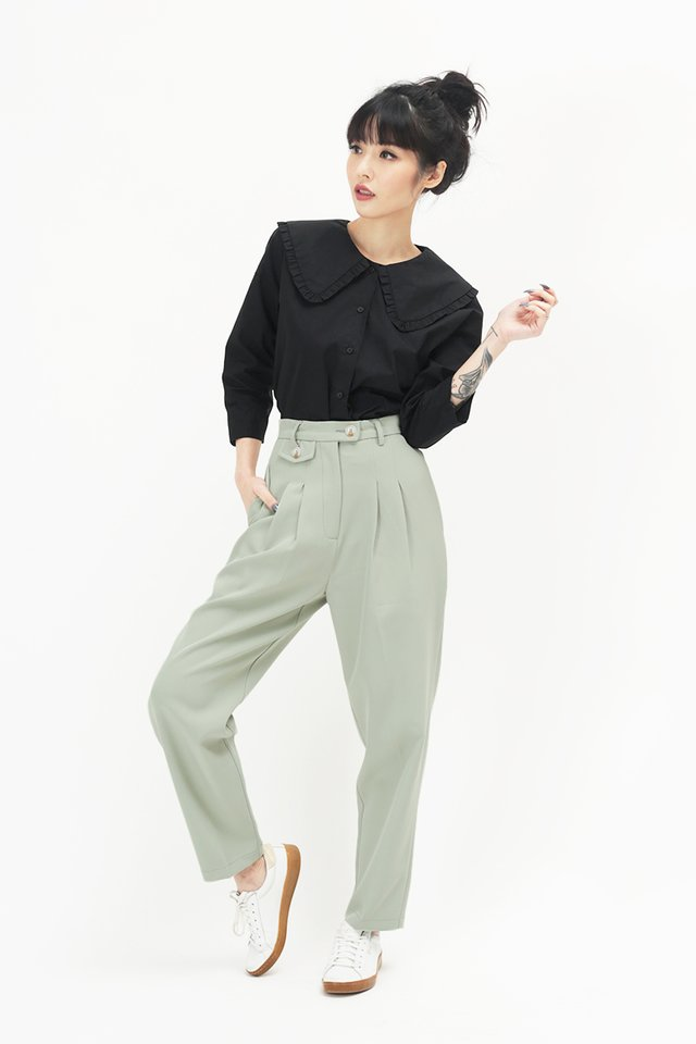 BAYLOR PEG LEG PANTS IN SAGE