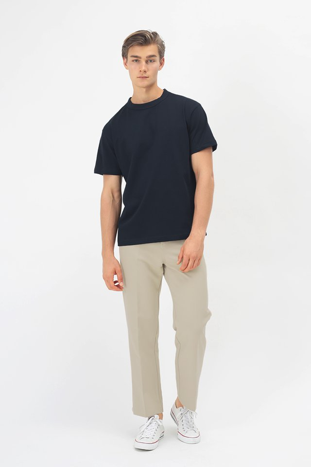GARTH STRAIGHT-FIT TROUSERS IN SAND