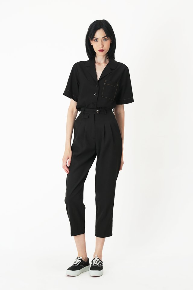 SAMMIE POCKET SHIRT IN BLACK