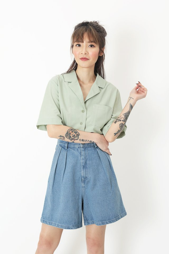 SAMMIE POCKET SHIRT IN MELON