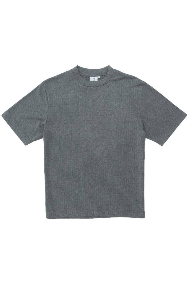 SETH HIGH NECK TOP IN GREY