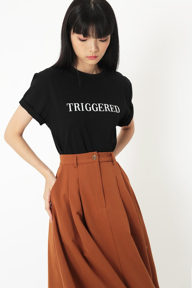 TRIGGERED T-SHIRT IN BLACK