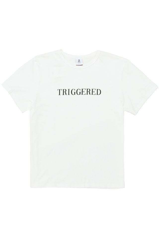 TRIGGERED T-SHIRT IN WHITE