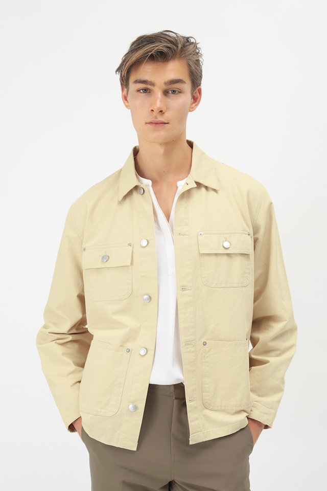 AUSTIN CHORE COAT IN CREAM