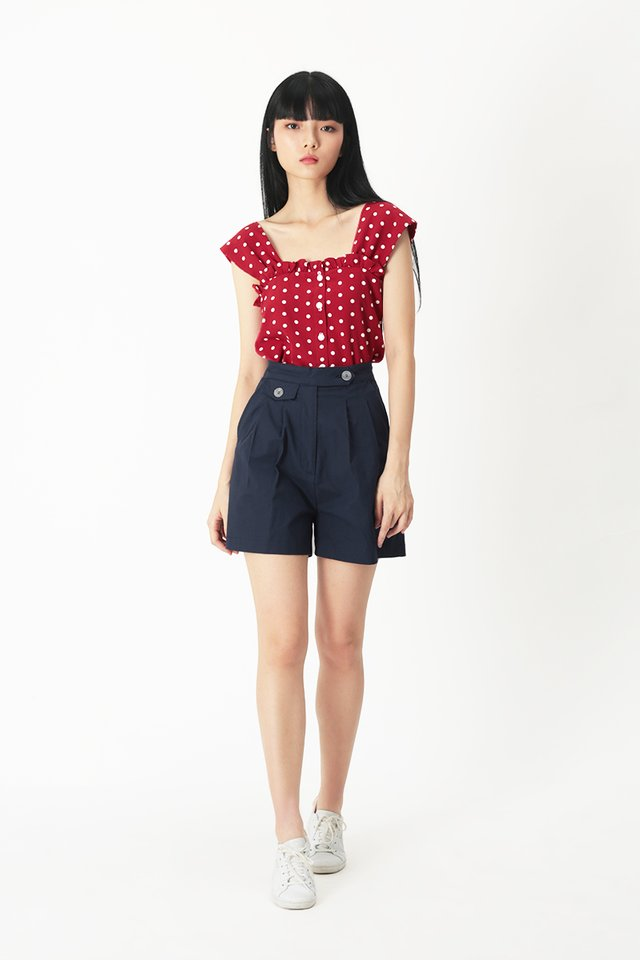 BRIGETTE POLKADOT TOP IN RED
