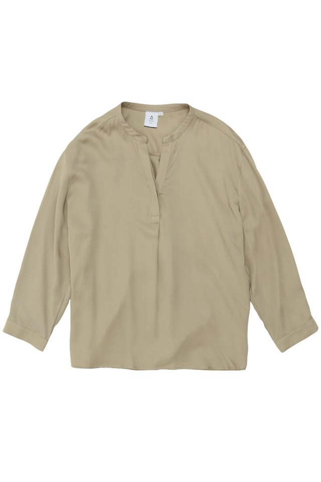 MATTY SKIPPER COLLAR SHIRT IN SAND